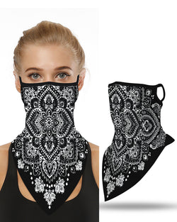 Floral Print Breathable Ear Loop Face Cover Outdoors Bandana