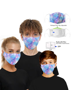 Sky Print Mouth Mask Breathable Washable And Reusable With Replaceable Filter
