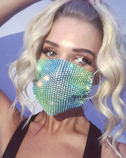 Studded Breathable Mouth Mask Washable And Reusable