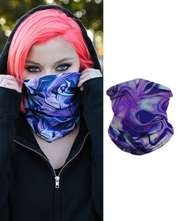 Purple Fusion Breathable Face Bandana Magic Scarf Headwrap Balaclava