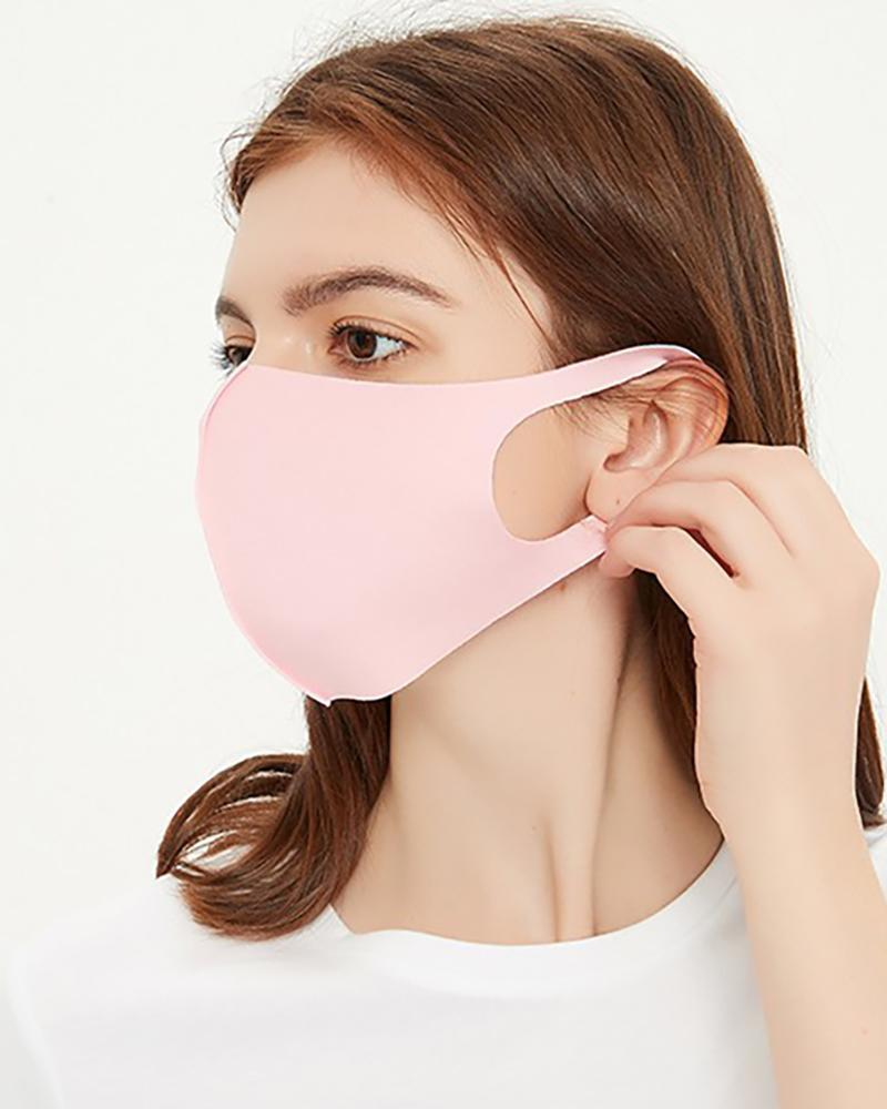 Ice Silk Breathable Mouth Mask Washable And Reusable
