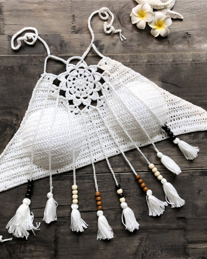 Hollow Out Tassel Bohemian style Top