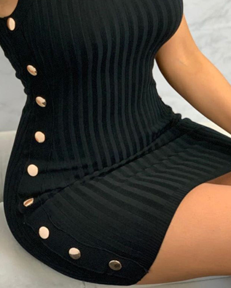 Spaghetti Strap U-Neck Dress