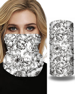 Floral Print Breathable Face Bandana Magic Scarf Headwrap Balaclava