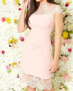 Eyelash Lace Splicing Dress