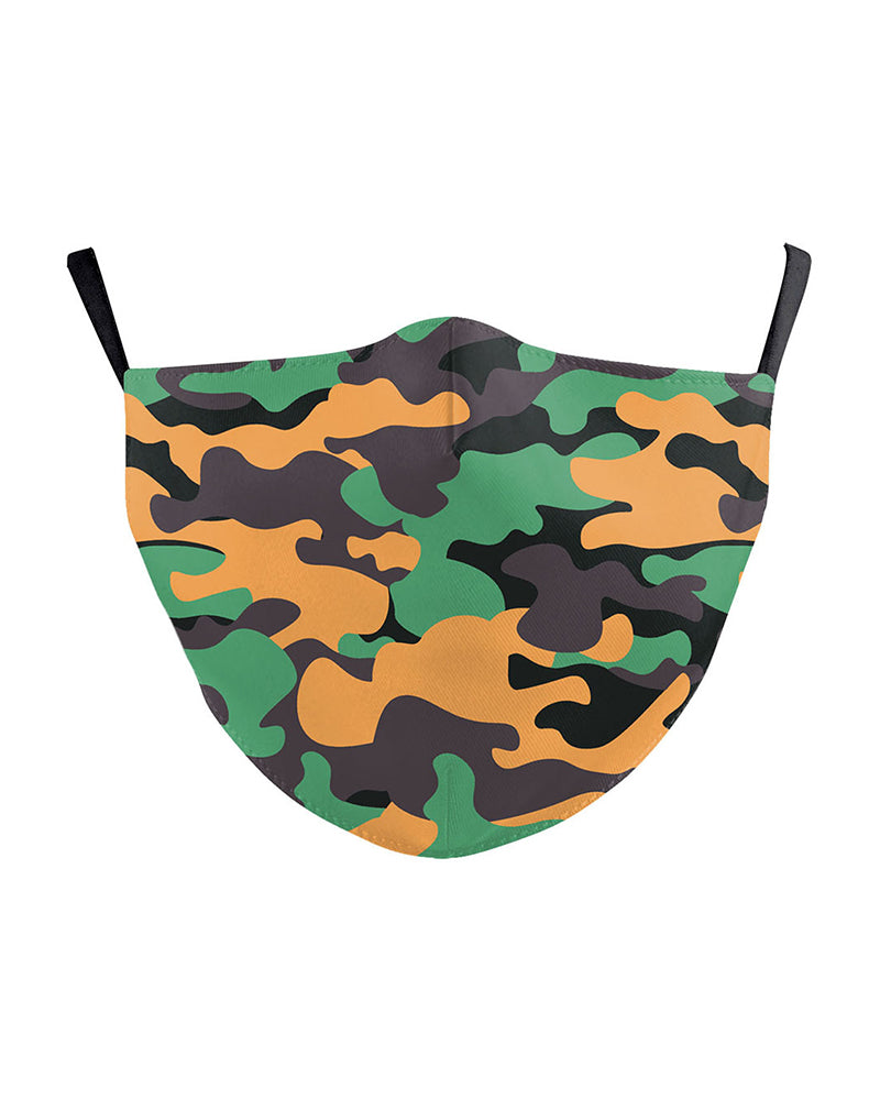 Camouflage Print Breathable Face Mask