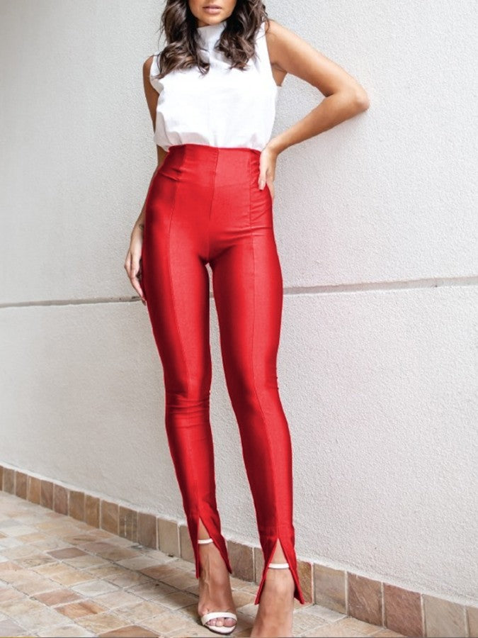 High Waist Slit Pants