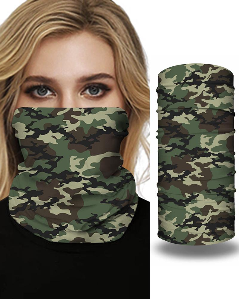 Leopard Camouflage Print Breathable Face Bandana Magic Scarf Headwrap Balaclava