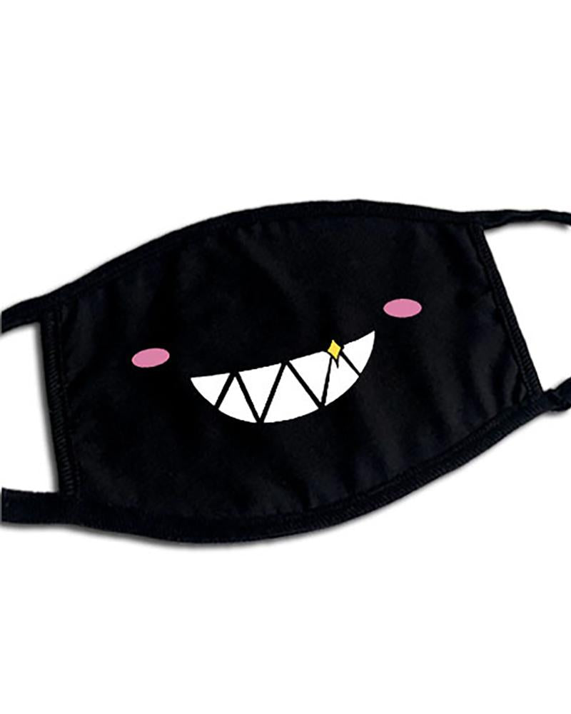 Cute Phiz Print Ear Loop Breathable Mouth Mask