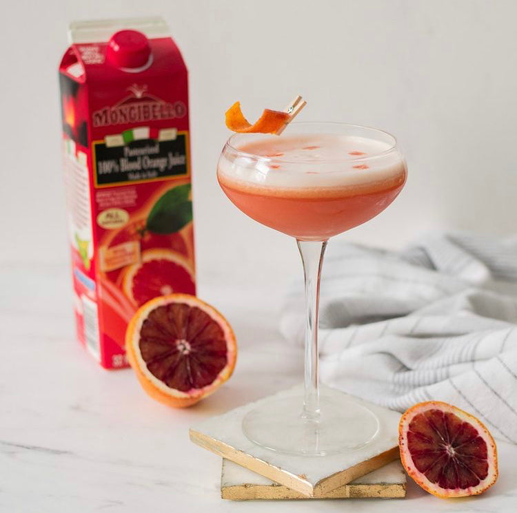 Blood Orange Bourbon Sour by PinchPurrfect
