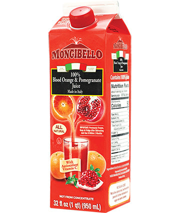 Mongibello 100 percent Fresh Squeezed Blood Orange and Pomegranate Juice