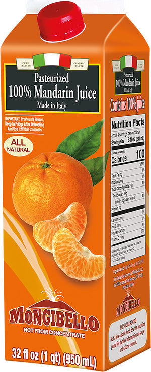 Mongibello 100% Fresh Squeezed Mandarin Orange Juice