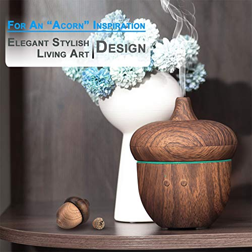 Acorn Wood Grain Aromatherapy Essential Oil Diffuser Cool Mist Humidifier
