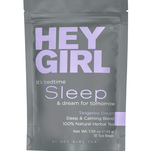 Hey Girl Sleep Tea with Natural Valerian Root, Herbal Chamomile & Lemon Balm | Promotes Relaxation, Aids Anxiety, Insomnia & Stress Relief