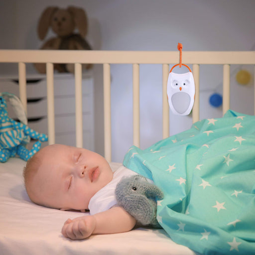 Baby Sleep Soother Sound Machine - Portable & Rechargeable with Amber Nightlight
