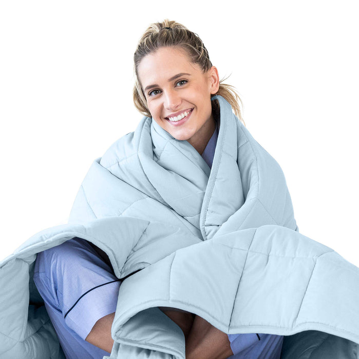 LUNA Adult Weighted Blanket | 17 lbs - Queen Size Bed