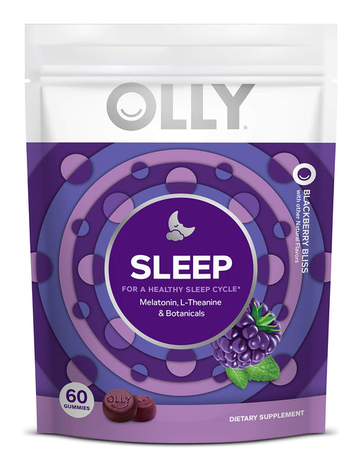 OLLY Sleep Melatonin Gummy, All Natural Flavor & Colors with L Theanine, Chamomile, and Lemon Balm