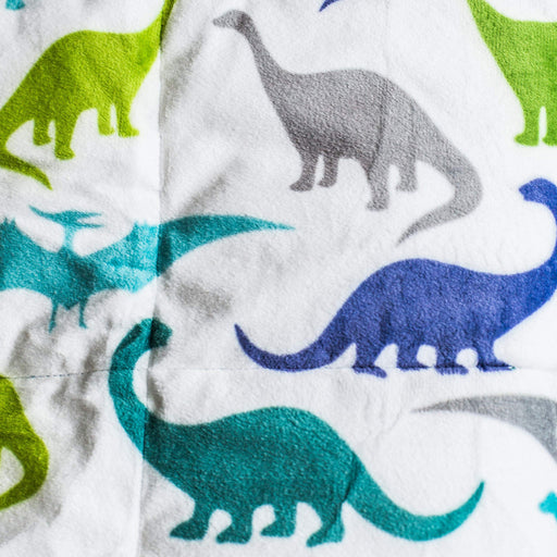 Kids Weighted Blanket - 7lbs 40x60 - Dinosaur Print Calming Blankets
