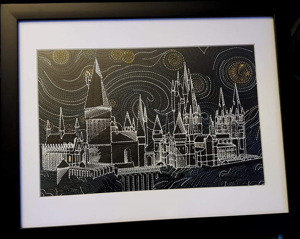 Wizard School Glow in the Dark Starry Night Framed Art