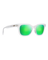 Maui Jim Shore Break Green Mirror Frosted Crystal