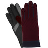 Isotoner W's Smart Touch Textured Velvet Glove in Black & Plum