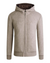 Bugatchi Wool Bomber Jacket With Hood in Oatmeal