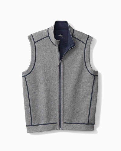 Tommy Bahama Flipshore Full Zip Vest in Ocean Deep