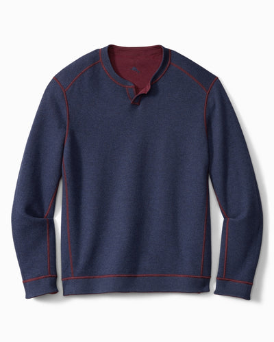 Tommy Bahama Flipshore Abaco Reversible Sweater in Meritage Wine