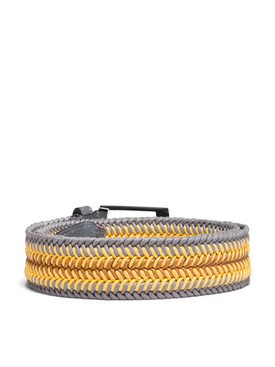 Bugatchi- Braided Buckled Belt in Yellow