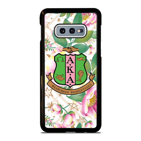 AKA PINK AND GREEN FLOWER LOGO Samsung Galaxy S10e Case Cover