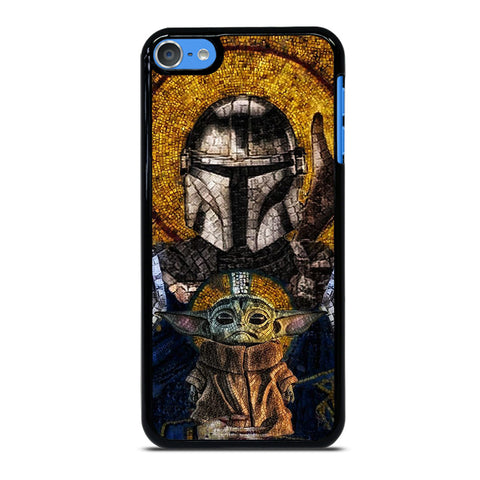 BABY YODA AND THE MANDALORIAN MOSAIC-ipod-touch-7-case