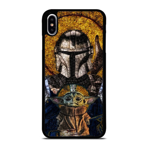 BABY YODA AND THE MANDALORIAN MOSAIC iPhone XS Max Case Cover