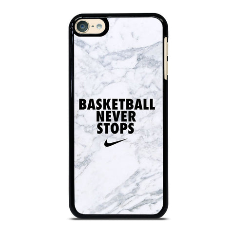 BASKETBALL NEVER STOPS MARBLE iPod Touch 6 Case