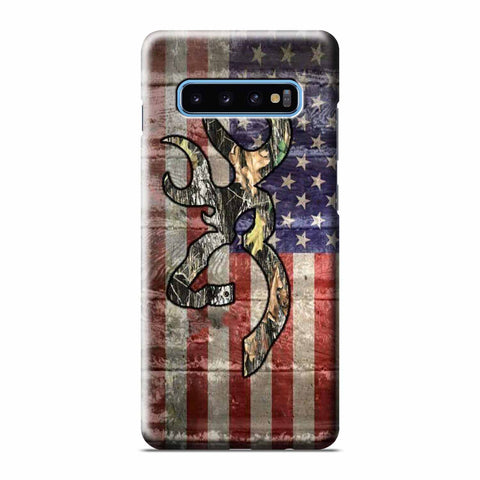 CAMO BROWNING AMERICA FLAG Samsung Galaxy 3D Case Cover