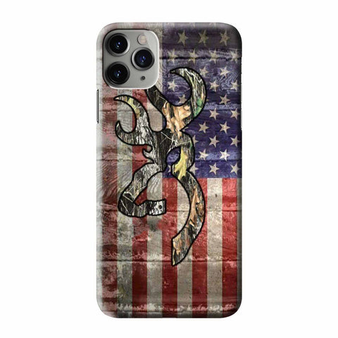 CAMO BROWNING AMERICA FLAG iPhone 3D Case Cover