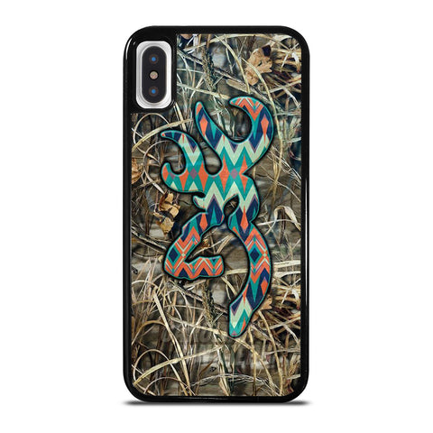 CAMO BROWNING LOGO iPhone X / XS Case Cover