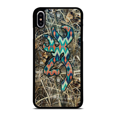 CAMO BROWNING LOGO iPhone XS Max Case Cover