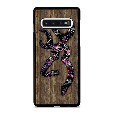 CAMO BROWNING PINK WOOD Samsung Galaxy S10 Case Cover