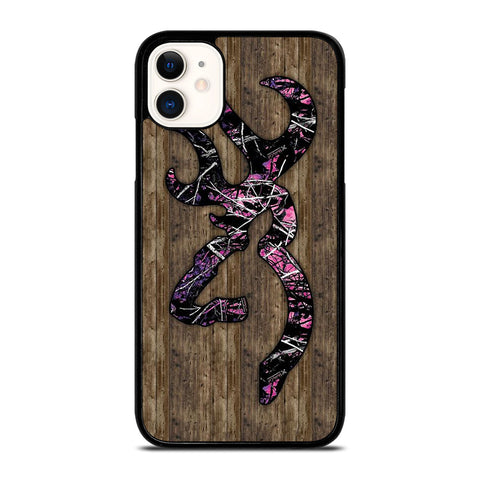 CAMO BROWNING PINK WOOD iPhone 11 Case Cover