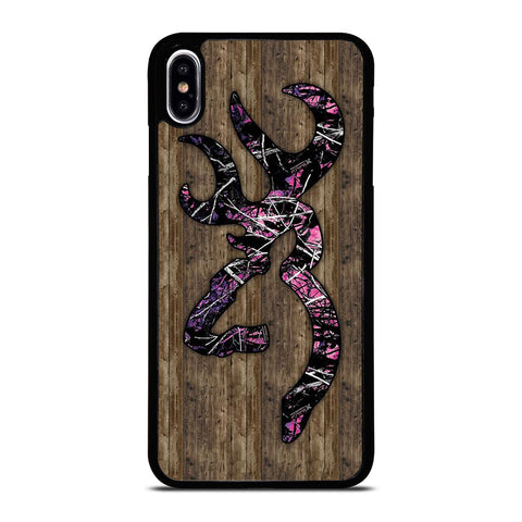 CAMO BROWNING PINK WOOD iPhone XS Max Case Cover