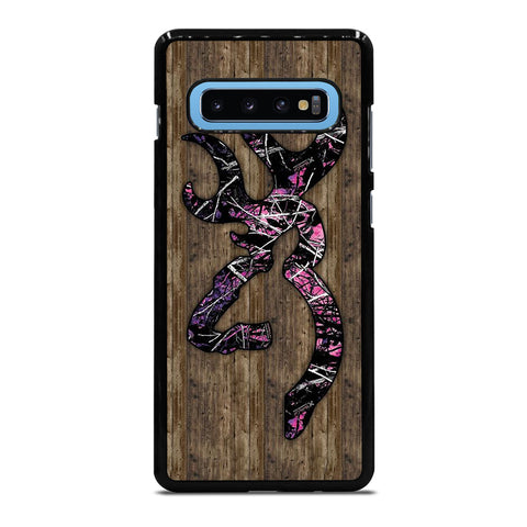 CAMO BROWNING PINK WOOD Samsung Galaxy S10 Plus Case Cover