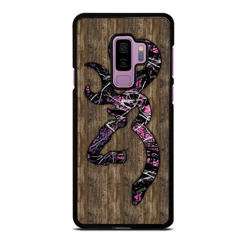 CAMO BROWNING PINK WOOD amsung Galaxy S9 Plus Case Cover