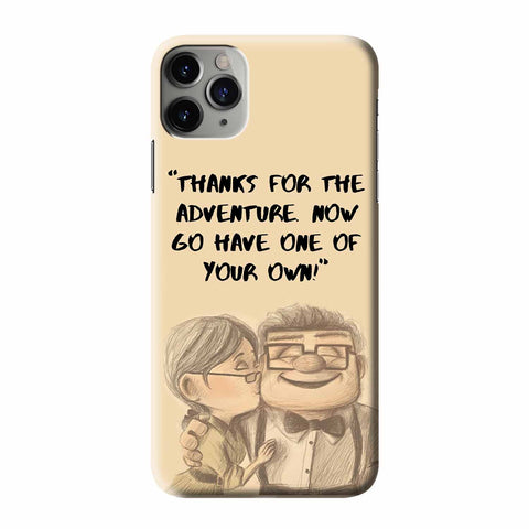 CARL AND ELLIE QUOTES UP iPhone 3D Case Cover