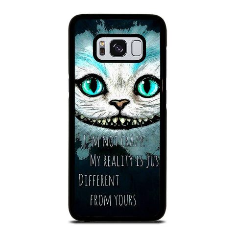 CHESHIRE CAT QUOTE Samsung Galaxy S8 Case Cover