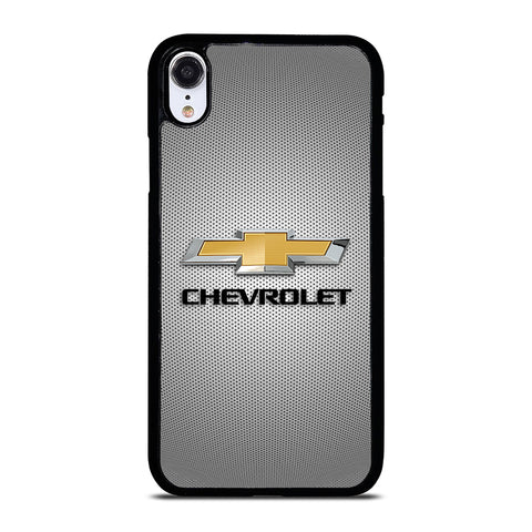 CHEVROLET LOGO GREY METAL Phone XR Case Cover