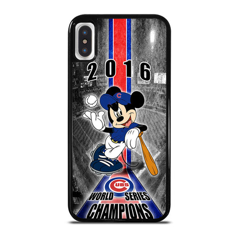 CHICAGO CUBS MICKEY MOUSE iPhone X / XS Case Cover