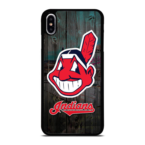 CLEVELAND INDIANS WOODEN LOGO iPhone XS Max Case Cover