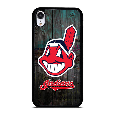 CLEVELAND INDIANS WOODEN LOGO iPhone XR Case Cover