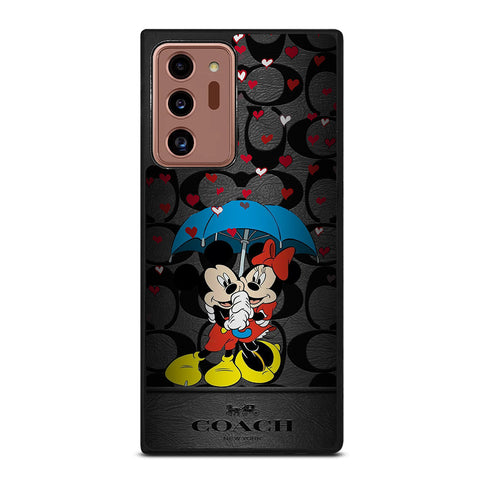 COACH NEW YORK MICKEY MINNIE MOUSE UMBRELLA Samsung Galaxy Note 20 Ultra Case Cover