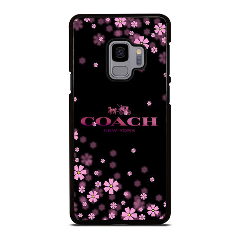 COACH FLOWERS PURPLE-samsung-galaxy-s9-case-cover